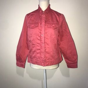 Appleseed's Pink Button Front Jacket Size 10p
